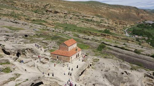 Ancient cave city Uplistsikhe in Georgia