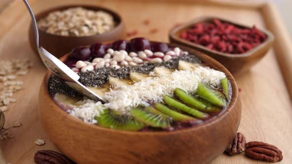 Thumbnail for Smoothie Bowl With Superfoods, Fruits And Berries.