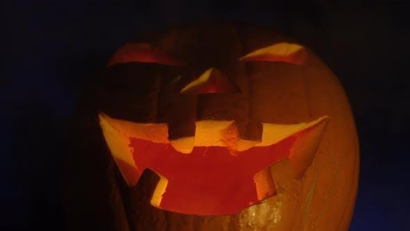 Thumbnail for Halloween Evil Pumpkin at Night