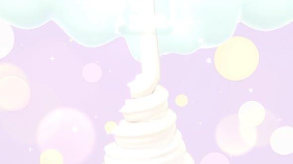 Pastell-Soft-Serve Eiscreme