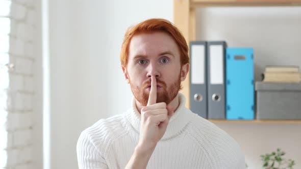 Thumbnail for Finger on Lips, Man Asking for Silence