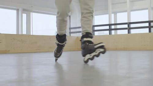 Rollerblader on Training