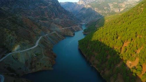Big River Between Mountains