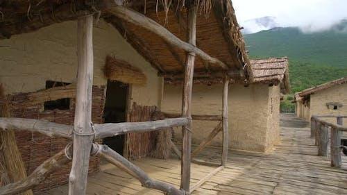 Ohrid Bay of Bones, Prehistoric Tribal Village Barracks Ruins, Macedonia