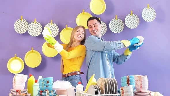 Thumbnail for Cheerful Happy Family Enjoying Working in Kitchen