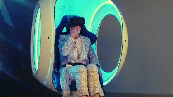 Thumbnail for Young Female Sharing Her Emotions After Virtual Reality Experience