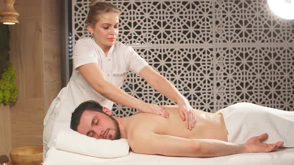 Thumbnail for Treatment Massage for Full Body. Man Lead Healthy Lifestyle