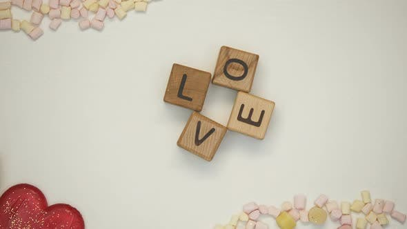 Thumbnail for Love Word on Wooden Cubes, Family Traditions and Values, Romantic Relationship