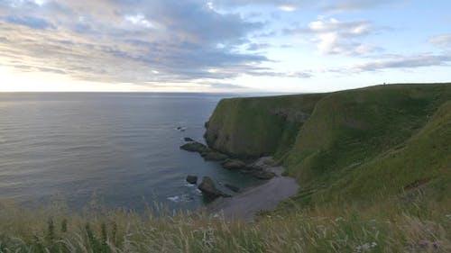 The North Sea coast in Scotland