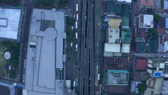 Thumbnail for Top View City Traffic of and Modern Buildings in Manila City, Philippines. Aerial