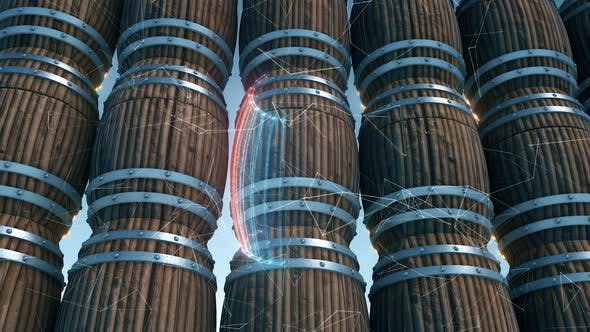 Industrial Barrels Hud Scanning Hd