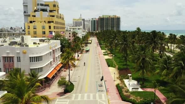 South Beach Miami FL shut down during Coronavirus Covid 19