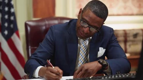 Lawyer Writing On Paper