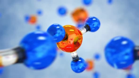 Seamless 3d Footage with Science or Medical Background with Molecule and Atoms