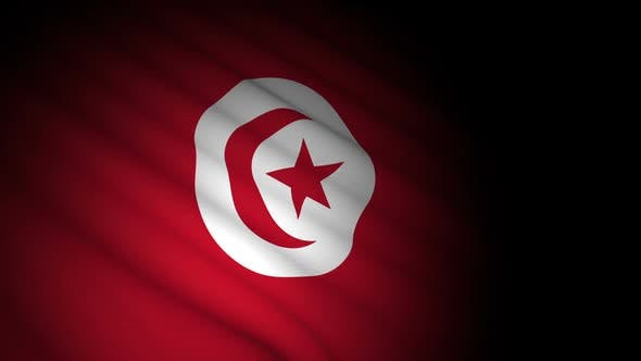 Thumbnail for Tunisia Flag Blowing in Wind