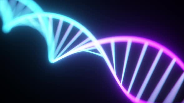 Thumbnail for Rotating Neon Dna Chain
