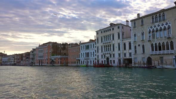 Cover Image for Old Houses on Canal Grande in Venice, Italy