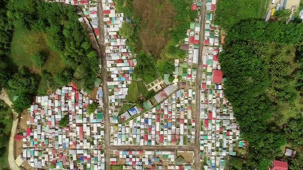 Cover Image for Aerial abstract view of residential district of Cebu city, Philippines.