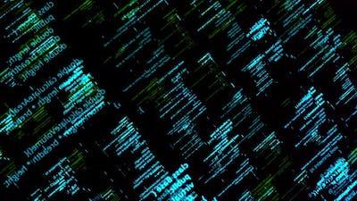 Programming code elements on computer screen