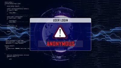 Anonymous Text and User Login Interface