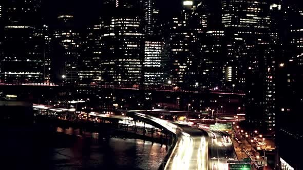 Thumbnail for Skyscrapers and Night Traffic in Manhattan