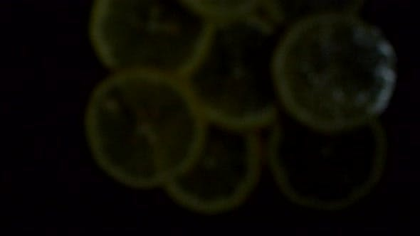 Thumbnail for Falling Round Pieces of Lemon