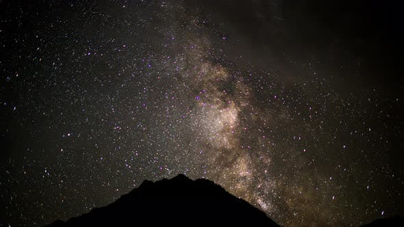 Night Starry Sky In Mountain With Milky Way 2