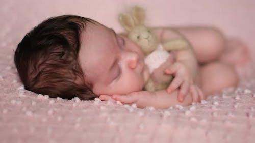 Newborn Baby, Child Care, Comfortable Sleep, Sleeping Baby.