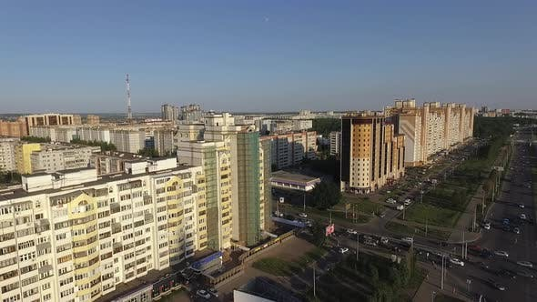 Thumbnail for Flying Over the Roads and Apartment Houses in Kazan, Russia