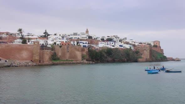 Thumbnail for Panorama Blick auf die Altstadt in Rabat Marokko