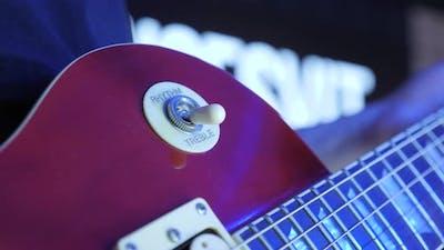 Treble rhythm pickup guitar switch
