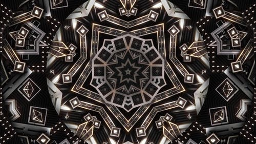 Silver Art Deco Ornament Kaleidoscope