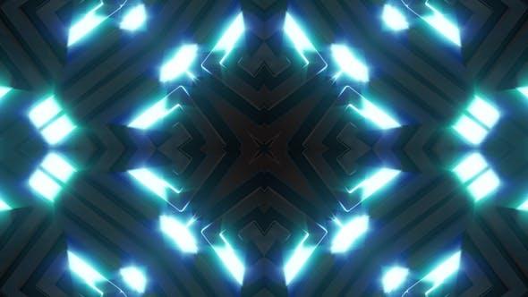 Neon Light Blue Glow Kaleidoscope V1