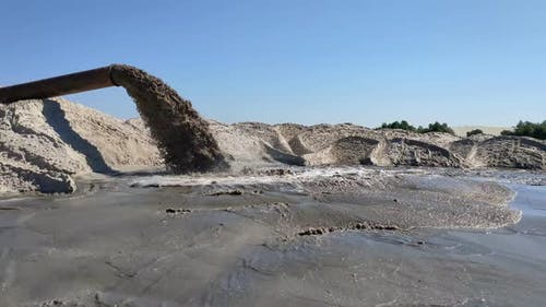 Alluvium of sand from