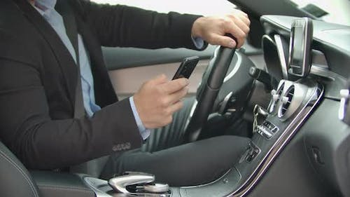Texting Message in the Car
