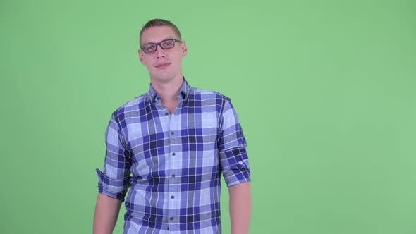 Thumbnail for Happy Young Hipster Man Being Interviewed