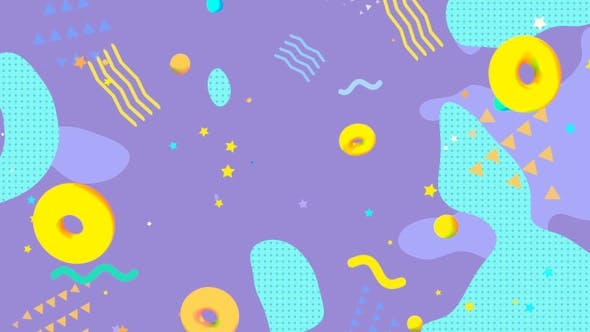 Thumbnail for Turquoise And Purple Geometric Shapes Background