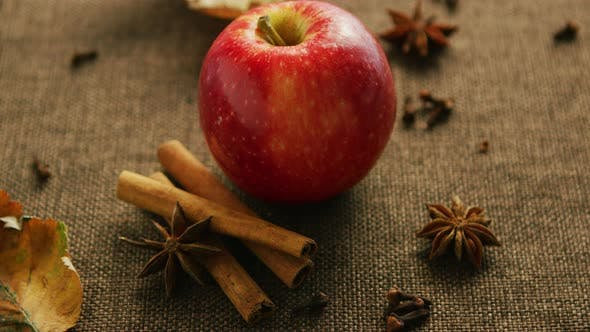 Ripe Apple with Aromatic Spices