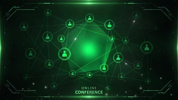 Online Conference Background Green 4k Loop