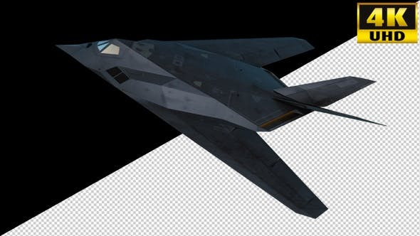 Thumbnail for Stealth Combat Jet Fighter On Alpha Channel Loops V1