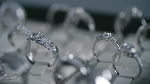 Thumbnail for Silver Rings in Luxury Shop