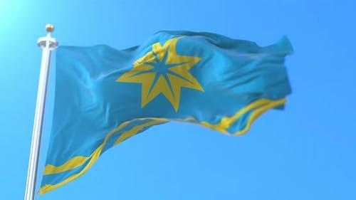 Volzhsky City Flag, Russia
