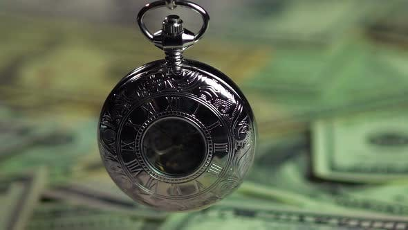 Thumbnail for Beautiful silver pocket watch, money does not buy time. Economy and finances