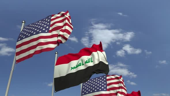 Thumbnail for Flags of Iraq and the USA