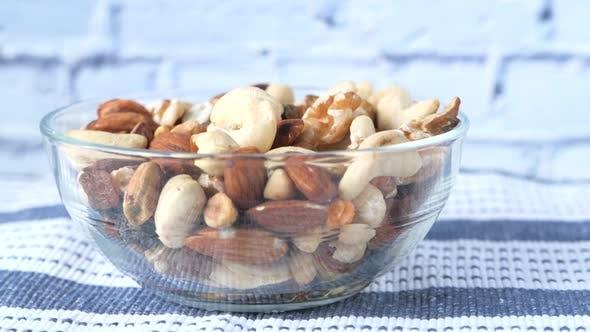 Close Up of Many Mixed Nuts