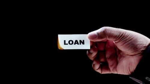 Burning Paper Writing Loan
