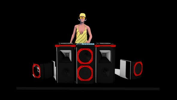 Thumbnail for 3D Sketch DJ VJ Girl