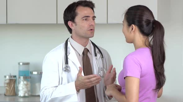 Thumbnail for Doctor and patient in doctor's office