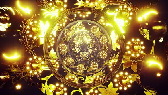 Thumbnail for Golden Jewels Ornament Background