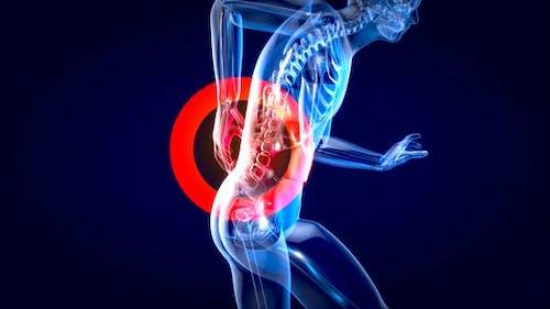Man suffering of massive back pain